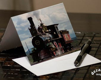PHOTO NOTE CARD, Photo Card, Blank Card, Blank Note Card, Train Card, Train Note Card, Trains, Note Card, Cards, Greeting Card, For Him