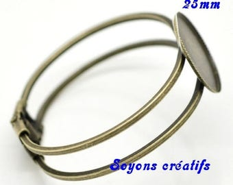 1 x medium bracelet bronze 25mm cabochon