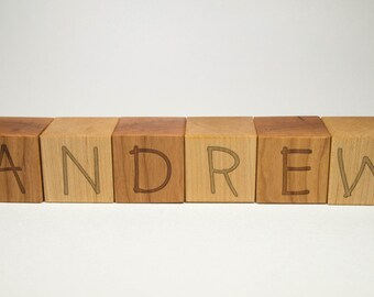 Personalized Wooden Name Letter Blocks - Custom Blocks