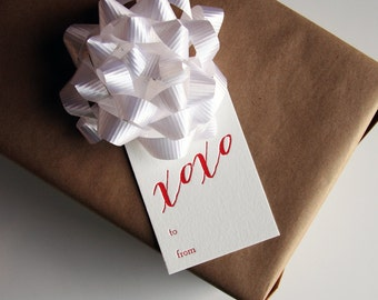 Letterpress Gift Tags - xoxo