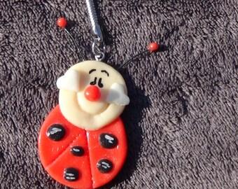 Ladybug Keychain made of cold porcelain
