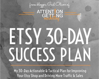 One of My Best Selling Items – Etsy 30-Day Success Plan with Actionable Tactics To Drive More Traffic to Your Etsy Shop