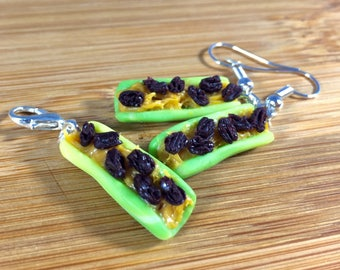 Ants on a log polymer clay miniature jewelry