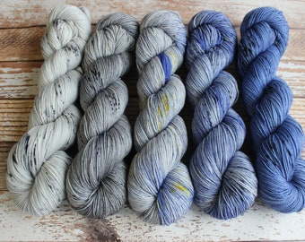 PREORDER - Five Skein Fade Kit #2 - Hand Dyed Yarn