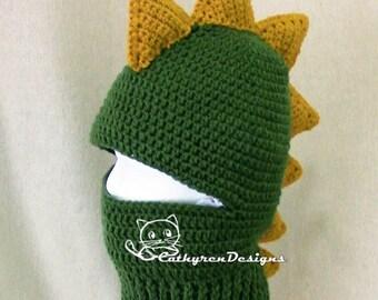 Dragon Ski Mask, 5 Sizes Child-Adult, INSTANT DOWNLOAD Crochet Pattern