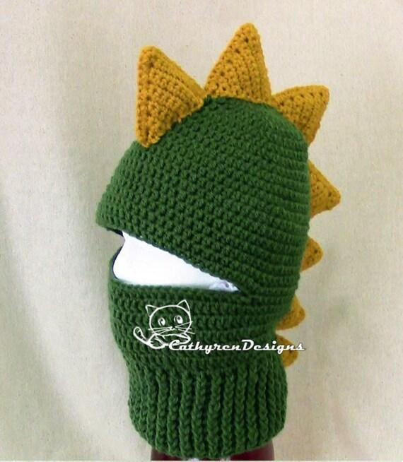 Dragon Ski Mask 5 Sizes Child Adult Instant Download Crochet