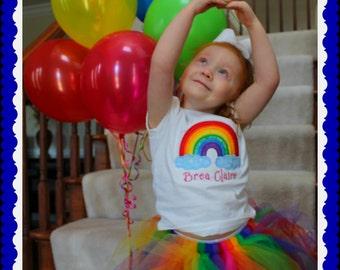 Rainbow Tutu, Birthday Skirt, Marathon tutu, Photo Prop, Halloween Skirt, Tutu Skirt baby,toddler, teen , adult, plus size
