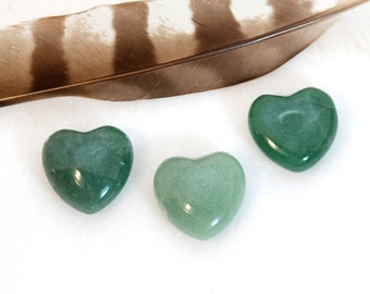 GREEN AVENTURINE Heart Stones | Green Crystal Heart | Wedding Favor, Recovery Gift, Remembrance Gift | Healing Crystals Chakra Energy Stones