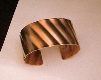 Women's Wide Copper Cuff Bracelet