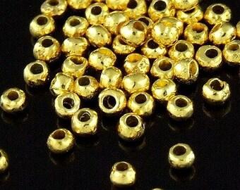 KG-101 thai karen hill tribes silver 50 gold vermeil mini facet bead