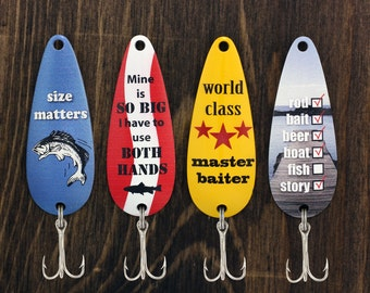 Fishing Humor Casting Spoons, Father's Day Gift, Fishing Gift, Gift for Him, Fisherman Gift, Fishing Lure, Bait, Funny Gift