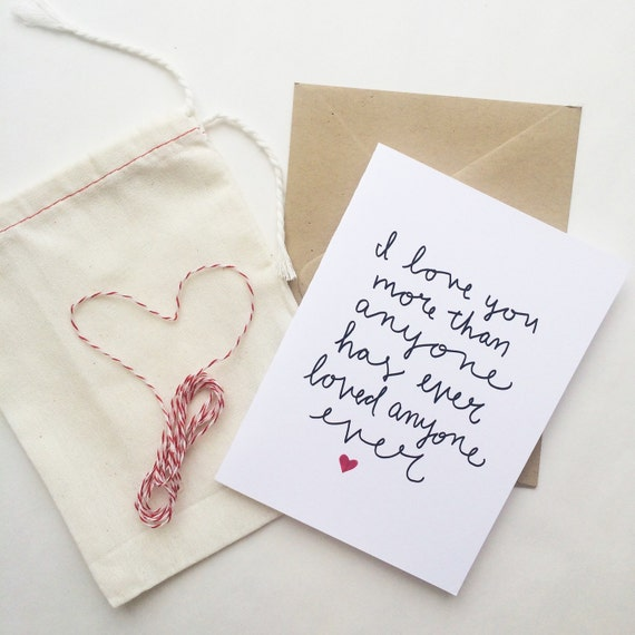 Sweet and quirky love card, anniversary, wedding, simple way to say I love you