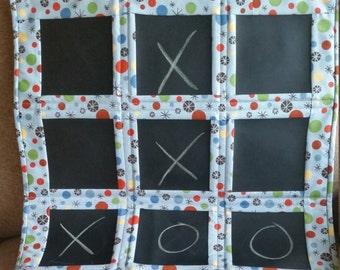 Custom Chalkboard Fabric Tic Tac Toe Board