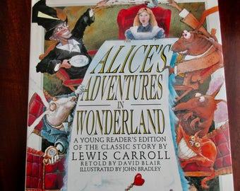 90s vintage book Alice in Wonderland - Lewis Carroll, David Blair