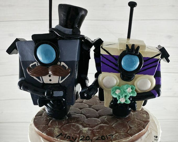 Gentleman Claptrap Borderlands Wedding Cake Topper