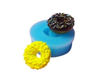 Miniature donut with sprinkles mold