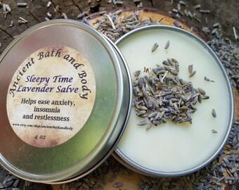 Natural Sleepy Time Lavender Salve / Lavender Moisturizer