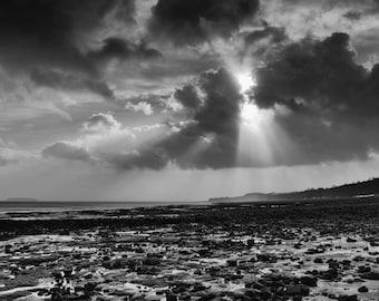 Penarth Beach sunrays