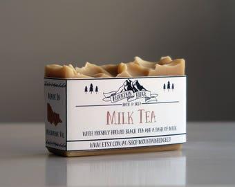 Milk Tea Soap - Handmade Soap, Cold Process Soap, Palm Free Soap, Milk, Tea.