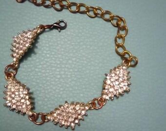 Diamond gem bracelet