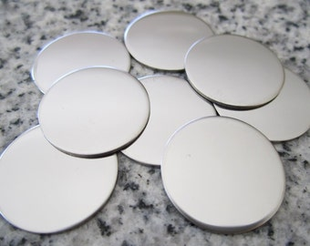 "3/4"" (19MM) Round Disc Stamping Blanks, 22g Stainless Steel - AWESOME Silver Alternative R06"