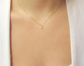 Diamond necklace cubic zirconia necklace diamond solitaire tiny cz gold necklace gold choker gold necklace dainty gold necklace cubic zirconia necklace cz necklace rose gold necklace aloadofball Images