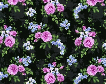RJR - Beverly Park - Melrose - Black - Fabric by the Yard 2914J-005