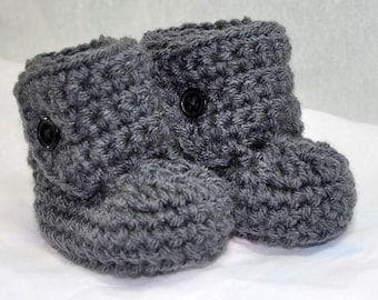 Baby Bootie Boots for 0 to 6 months with Button top