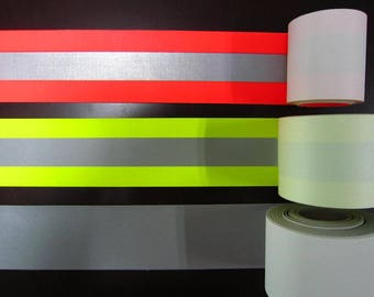 """1"""" and 2"""" Sew on High Visibility Reflective Tape (length 5yds, 10yds, 25yds)"""