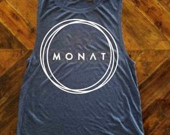 Monat Muscle Tank / Monat Shirt / Hair Quote Shirt / Monat Shirt / Hairdresser Shirt / Boss Babe / Mom Boss / WAHM / MLM