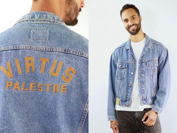 Vintage Denim Jacket Mens Jean Jacket Denim Jacket Blue Jean Jacket Men Grunge Jacket Vintage Denim Jacket Denim Jackets 90s Denim Jacket