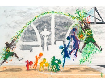 """Sonics 20x30in. Print, """"Bring Back our Sonics"""", by Ryan O'Keefe"""