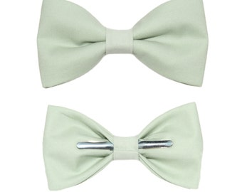 Seafoam Green Clip-On Cotton Bow Tie - Choice of Men's Boys or Toddler Bowtie