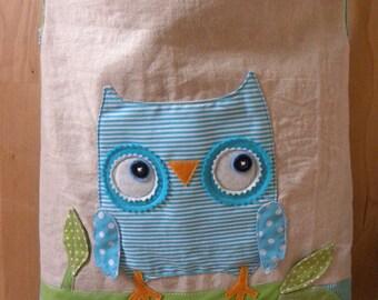 Aqua owlie tote