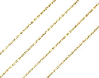 Vintage long twisted mesh Napoleon III classic 18K Yellow Gold