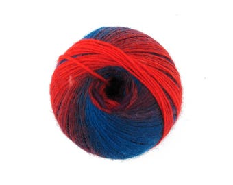 2 Skeins Lava Flow Wool Yarn - Color 116