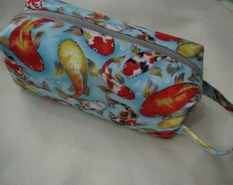 Koi Fish Cosmetic Bag Makeup Bag LARGE