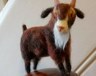 Handmade felt goat