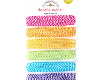 Rainbow Bakers Twine Set, Rainbow Twine, Rainbow Party String, Cotton Twine, Bakers Twine Sampler, Baker's Twine, Bakers String