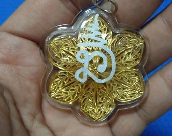 Charming Golden Flower Magic Charm Lucky Rich Pendant Thai Amulet Love Occult