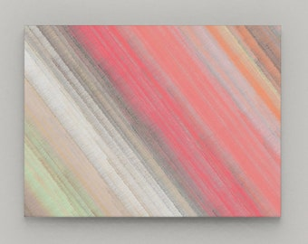 Abstract Wall Art  Canvas Wall Decor Coral Pink Orange Grey Decor Home Decor Decor Wall Picture 16X20 20X30 30X40
