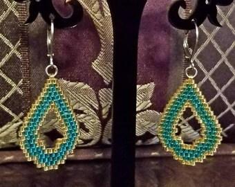 Brickstitch Drop Earrings