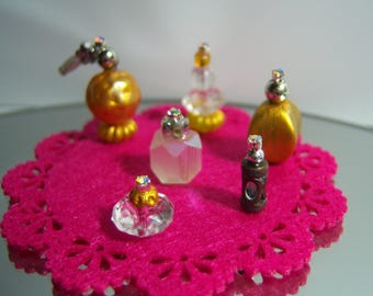 Lot of 6 Miniatures bottles 1:6 Perfume Handmade Barbie Doll Blythe BJD Collector House Doll Vanity Accessories Toiletries Bathroom Bedroom