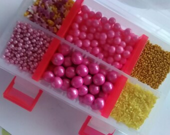Edible cake sprinkles, cupcake decorations, eclaire decorations, doughnut decorations, chocolate decorations, multi sized edible decorations