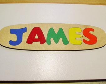 Wooden Name Puzzle ~ Personalized Wooden Puzzle ~ Childrens Puzzles ~ Customized Name Puzzle ~ Custom Made Educational Toy ~ Flush Letters