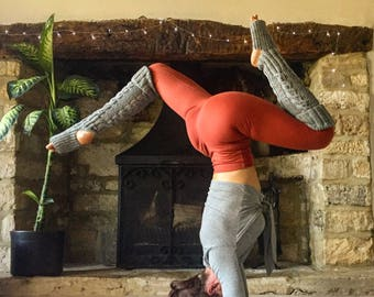 Yoga leg warmers. Yoga spats.Lambswool. One Size