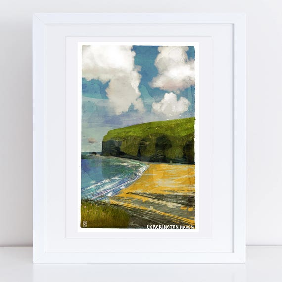 Crackington Haven - Signed Cornish Coasts Giclee Print