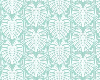 Leafy Mint, Tropical Paradise, Fabric Yard by Josephine Kimberling for Blend Fabrics, Palm Frond 114.116.04.2