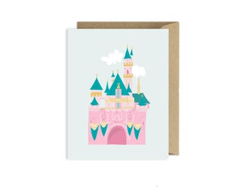 Disneyland Castle Greeting Card | Disneyworld | Disney Inspired