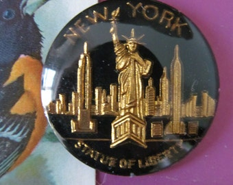 Vintage NEW YORK Statue Of Liberty Cabochon